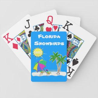 Cartões de jogo das letras grandes para Snowbirds Baralhos De Cartas