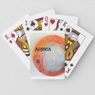 Cartões de jogo de África Jogo De Carta