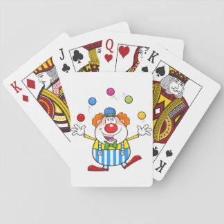 Cartões de jogo de mnanipulação do palhaço jogos de baralhos