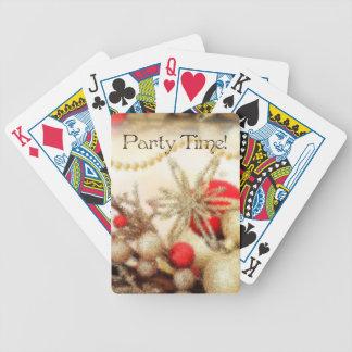 Cartões de jogo do feliz ano novo baralho de truco