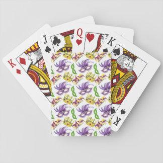Cartões de jogo do partido do carnaval com jogo de baralho