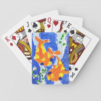 cartões de jogo do peixe dourado baralhos