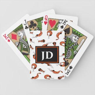 Cartões de jogo do póquer da bicicleta do camarão baralhos para pôquer