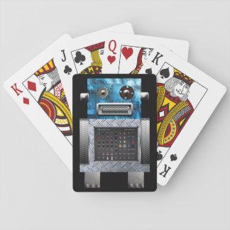 Cartões de jogo do robô baralho