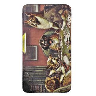 Cartões de jogo dos cães do pai bolsa de celular