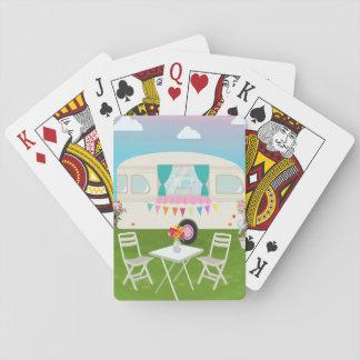 Cartões de jogo dos campistas baralho