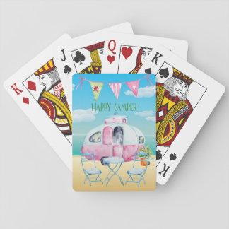 Cartões de jogo dos campistas jogo de carta