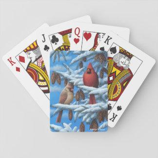Cartões de jogo dos cardeais baralhos