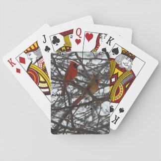 Cartões de jogo dos cardeais cartas de baralho