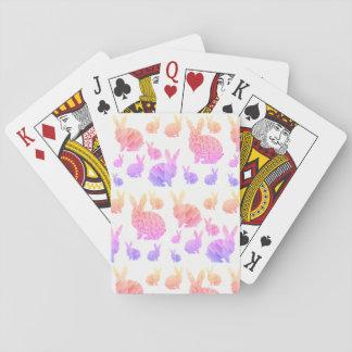 Cartões de jogo dos coelhos do arco-íris jogo de carta