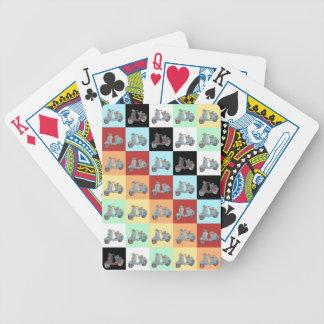 Cartões de jogo dos patinetes baralhos para pôquer