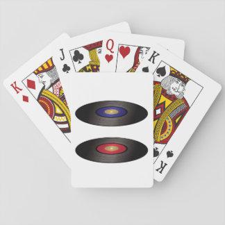 Cartões de jogo dos registros de vinil jogos de baralhos