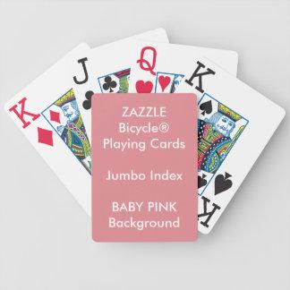 Cartões de jogo enormes do índice da bicicleta cartas de baralhos