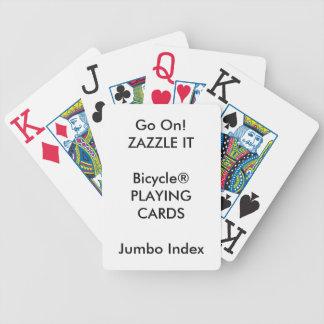 Cartões de jogo ENORMES do ÍNDICE de Bicycle® do Jogos De Baralho
