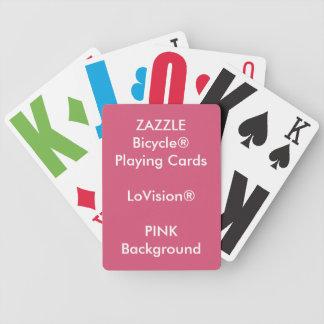 Cartões de jogo feitos sob encomenda COR-DE-ROSA Baralho Para Pôquer