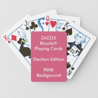 Cartões de jogo feitos sob encomenda COR-DE-ROSA Jogo De Baralho