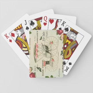 Cartões de jogo femininos do victorian do vintage jogo de carta