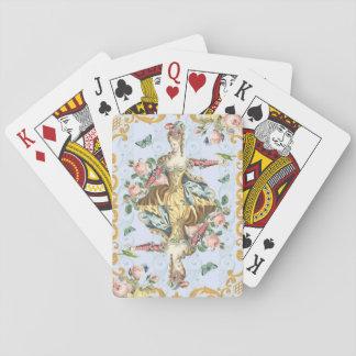 Cartões de jogo femininos florais da baralho