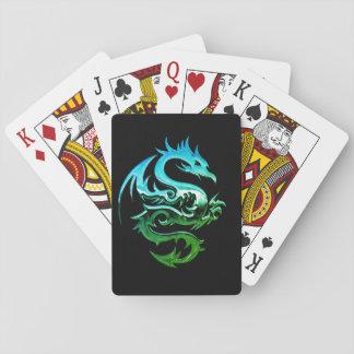 Cartões de jogo ferozes do dragão do cromo baralho
