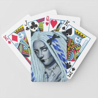 Cartões de jogo góticos rasgados da arte da baralhos de pôquer