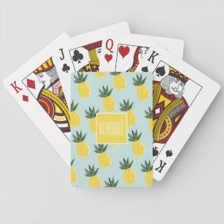 Cartões de jogo personalizados monograma do jogos de baralhos