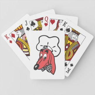 Cartões de jogo que caracterizam o caráter do jogo de baralho