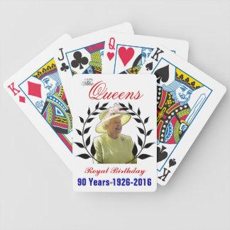 Cartões de jogo reais do aniversário do Queens Carta De Baralho