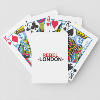 Cartões de jogo rebelde da bicicleta de Londres Baralho Para Truco