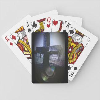 Cartões de jogo transversais do cemitério, caras jogo de baralho