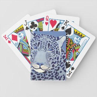 Cartões de jogo Ultramarine do póquer de Jaguar Baralho Para Pôquer