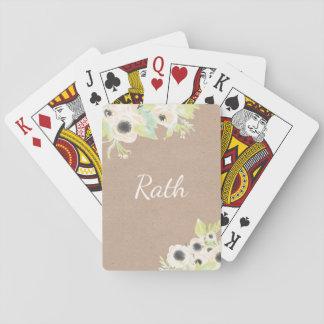 Cartões de jogo Wedding personalizados monograma Baralhos