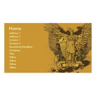 Cartões de Libertas do eleitor da liberdade Modelos Cartao De Visita