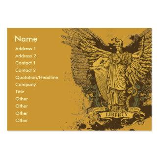 Cartões de Libertas do eleitor da liberdade Cartão De Visita Grande