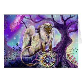 Cartões de Lion~greeting do céu