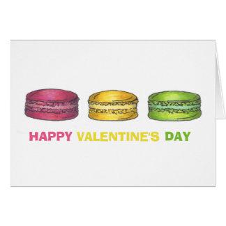Cartões de Macaron do feliz dia dos namorados