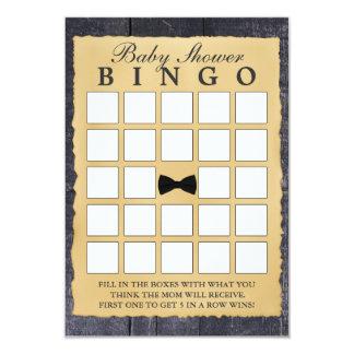 Cartões de madeira do Bingo do chá de fraldas do Convite 8.89 X 12.7cm