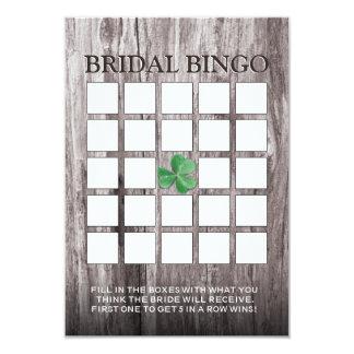 Cartões de madeira do Bingo do chá de panela do Convite 8.89 X 12.7cm