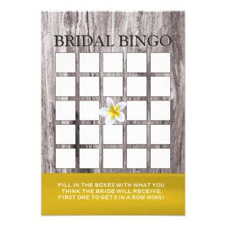 Cartões de madeira do Bingo do chá de panela do Fr