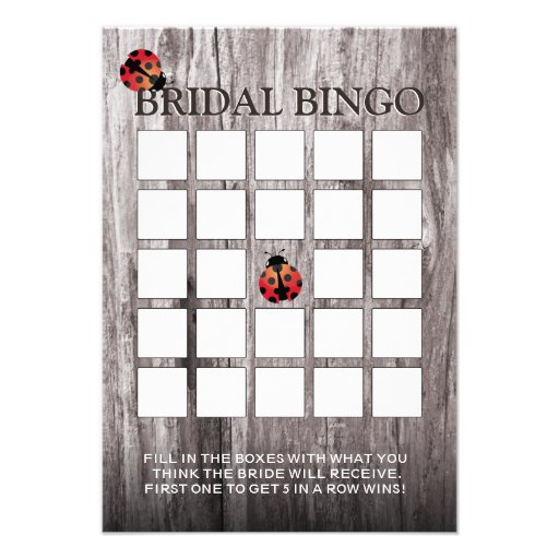 Cartões de madeira do Bingo do chá de panela do fu Convites Personalizado