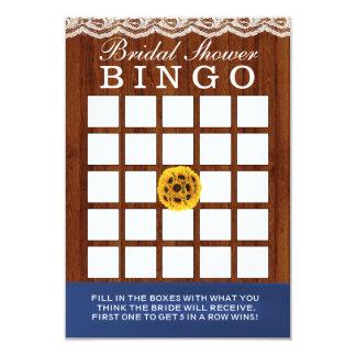 Cartões de madeira do Bingo do chá de panela dos Convite 8.89 X 12.7cm