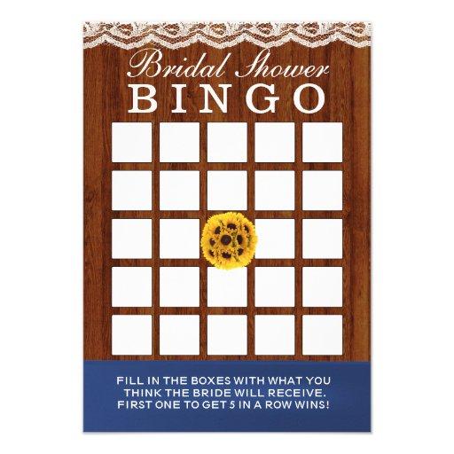 Cartões de madeira do Bingo do chá de panela dos g Convite Personalizado