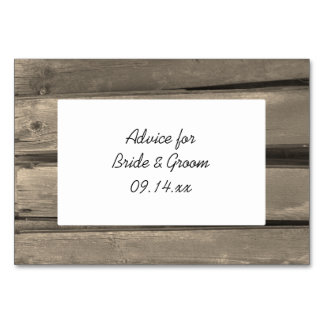 Cartões de madeira do conselho do casamento do