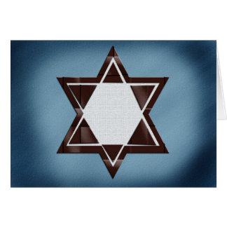 Cartões de Mitzvah do bar da estrela de David de