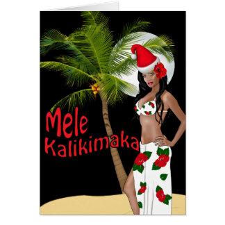 Cartões de Natal 00 de Mele Kalikimaka do Pinup de