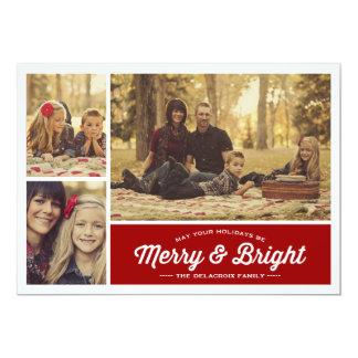 Cartões de natal alegres & brilhantes da foto do