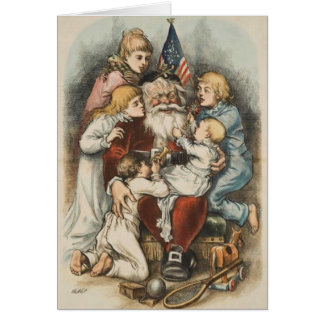 Cartões de Natal americanos do vintage