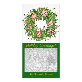 Cartões de natal Cartão com fotos a personalizar