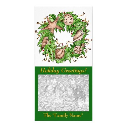 Cartões de natal! Cartão com fotos a personalizar