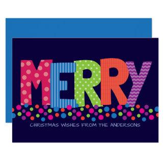 Cartões de natal coloridos do fazer ALEGRE moderno