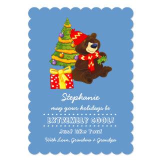 Cartões de Natal conhecidos do divertimento do Convite 12.7 X 17.78cm